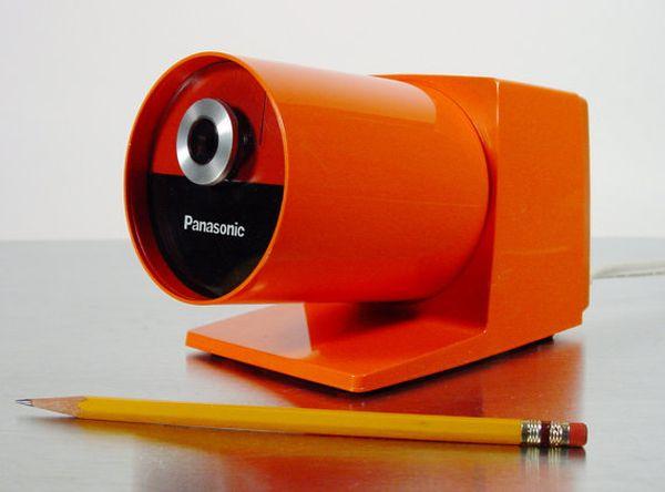Orange electric pencil sharpener