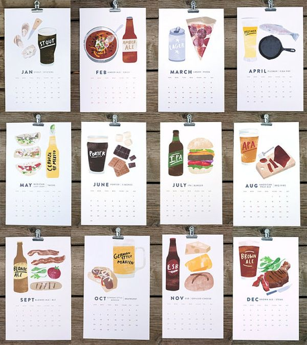 Beer and Food Pairings Calendar