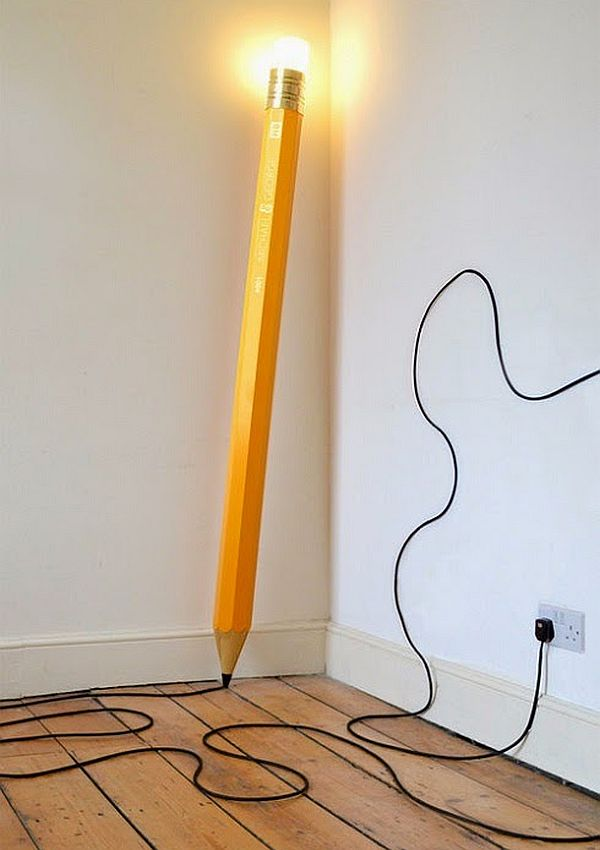 Pencil inspired HB lamp by Michael & George