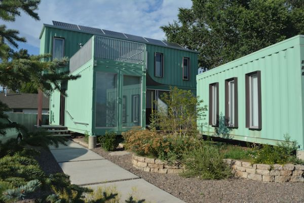 Six unit shipping container home