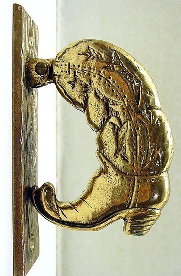 Cowboy boot doorknocker