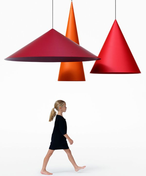 Giant conical pendant lamps 2
