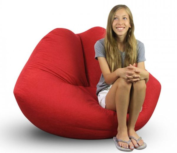 Hot Lips Bean Bag Chair
