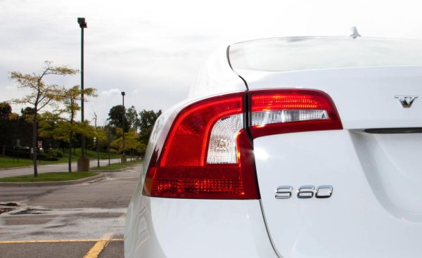 The taillight of Volvo S60