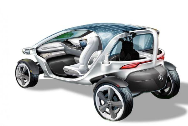 Solar Powered Mercedes Golf Cart