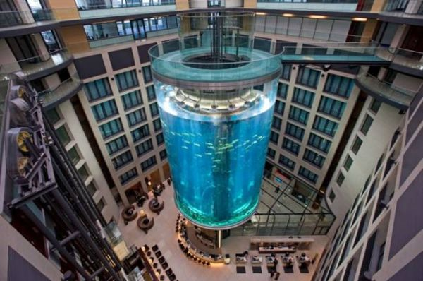 AquaDom is the largest Cylindrical Aquarium Elevator
