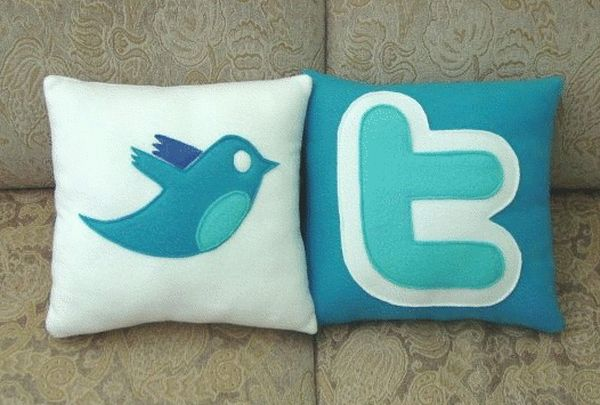 Facebook and Twitter Pillow