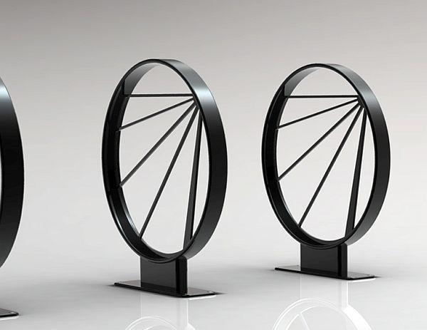 Hoop Shaped Bike Rack