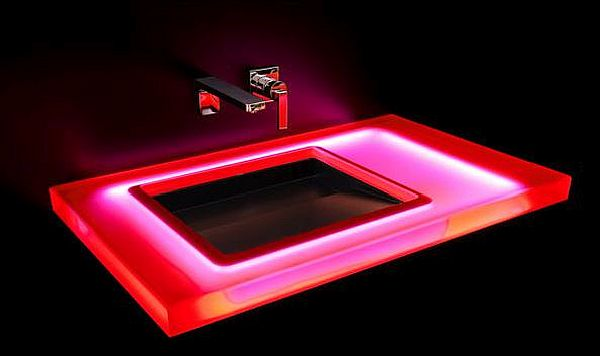 Red LED Washbasin