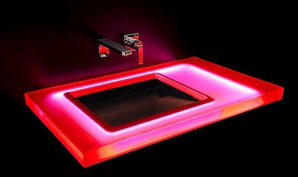 Red LED Washbasin