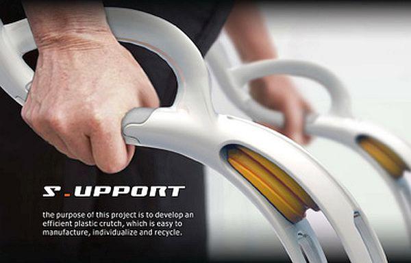 S_UPPORT Plastic Crutch