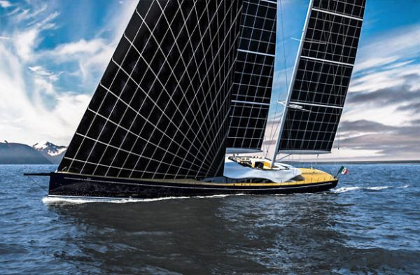 Solar Powered Sailing Yacht Helios