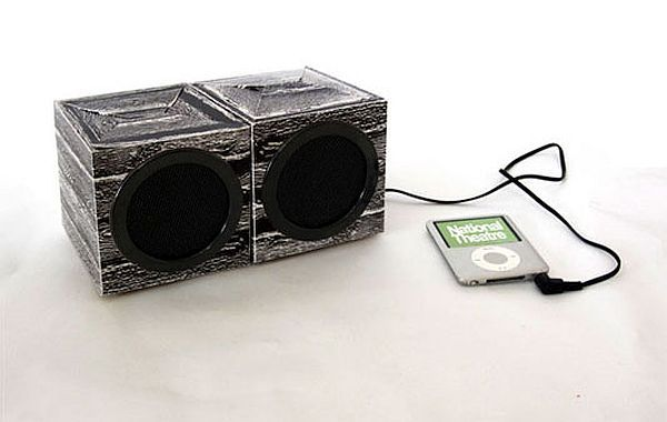 The Cardboard Speaker Set by Danie Pardo