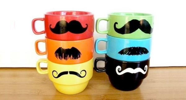 The mustache cups