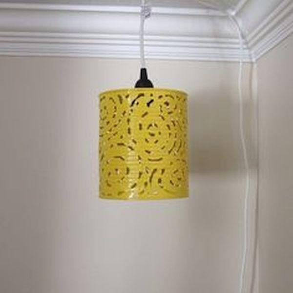 Tin can pendant lamps