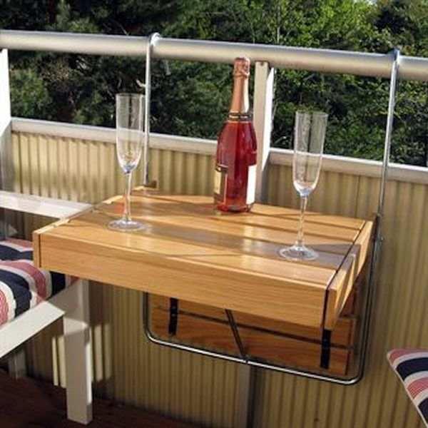 Saving space and adding substance with folding furniture for Space saving hanging table for balcony
