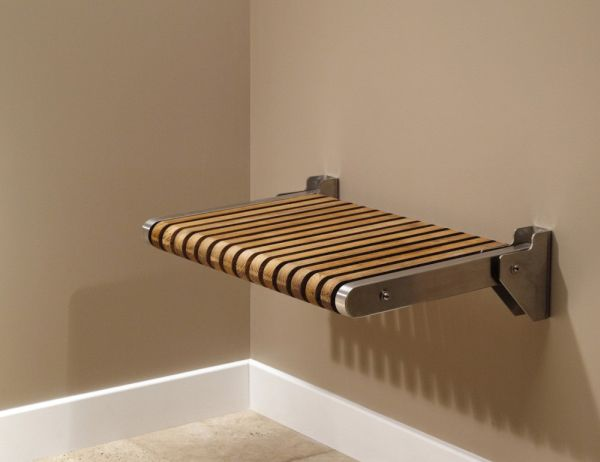 Folding shower bench