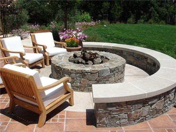 fire pit in the backyard (1)