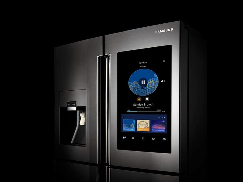 samsung family hub refrigerator designbuzz. Black Bedroom Furniture Sets. Home Design Ideas
