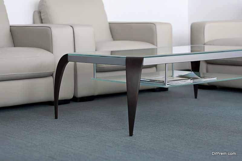 glass coffee table maintenance