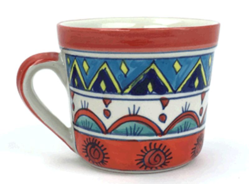 Painted coffee mugs