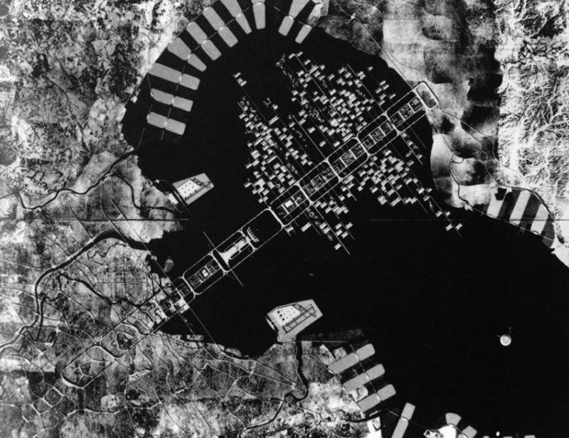 Kenzo Tange's Tokyo urban development plan