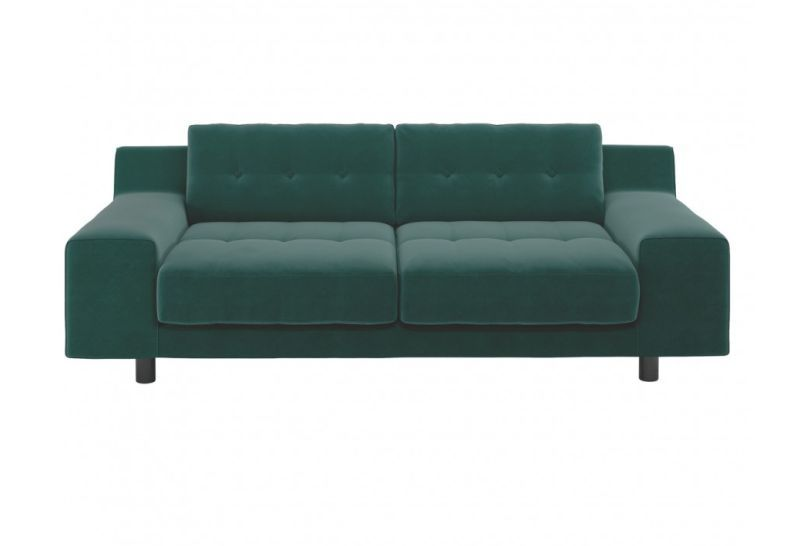 Hendricks 3 seater sofa available in emerald green