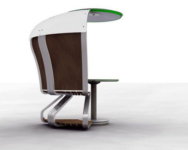 Solar Powered Outdoor Workspace by Mathias Schnyder