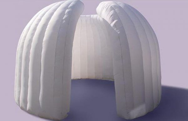 bucket inflatable Office pod produced by Inflate