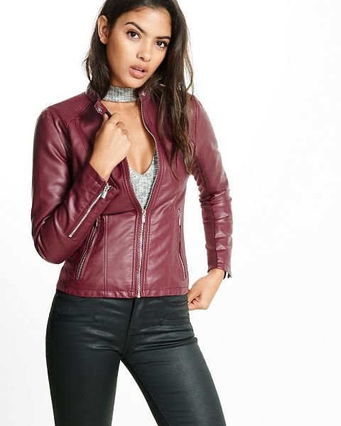 Express (Minus The) Leather Quilted Moto Jacket