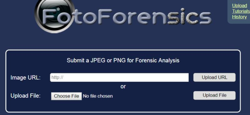 Fotoforensics Website