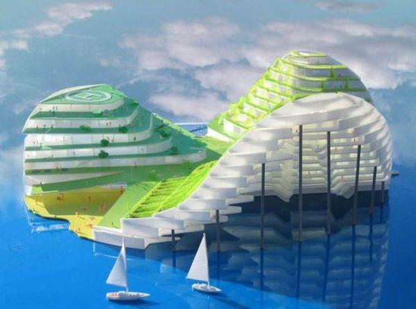Mermaid-Inspired Aquatic Building