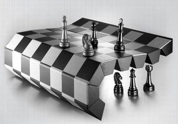 Image Roll-Up Chess Board
