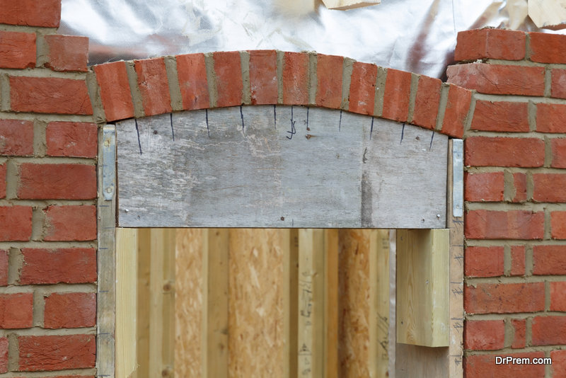 build a brick arch lintel by yourself