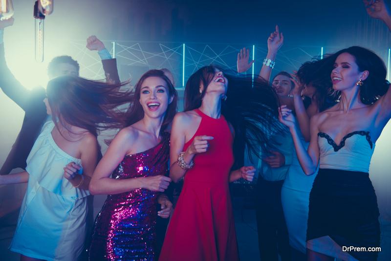 getting wild on the dance floor