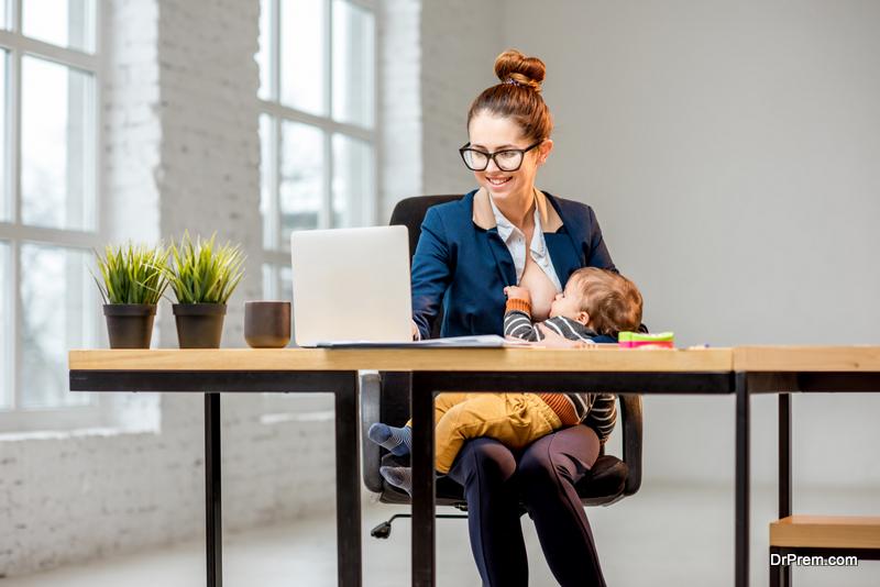 separate breastfeeding space