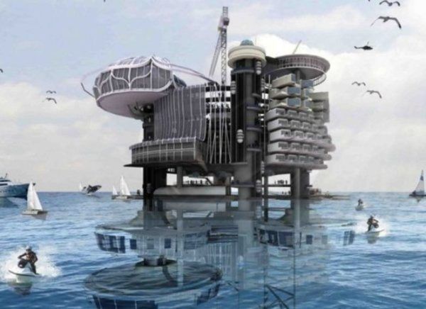 Abandoned oil rigs