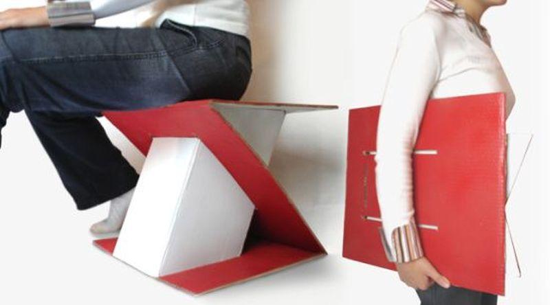 Cardboard Stool by Erdem Selek