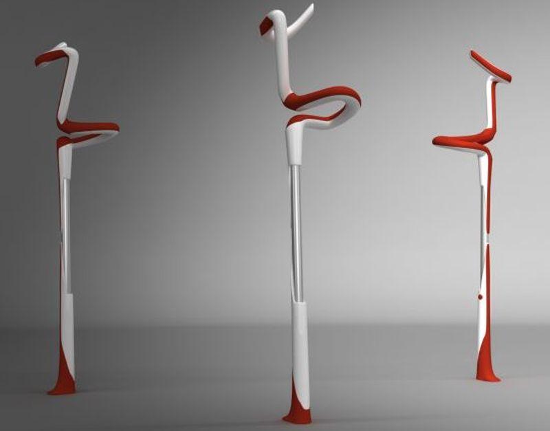 Flamingo crutches