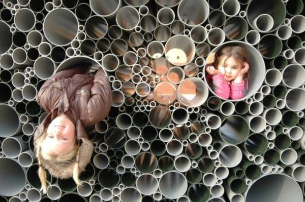 PVC pipes form an interactive pavilion