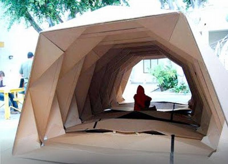 Simply designed cardboard shelters