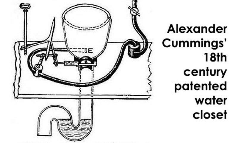 Alexander Cumming's flushing toilet