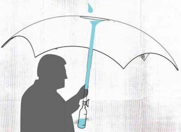 Filterbrella concept umbrella