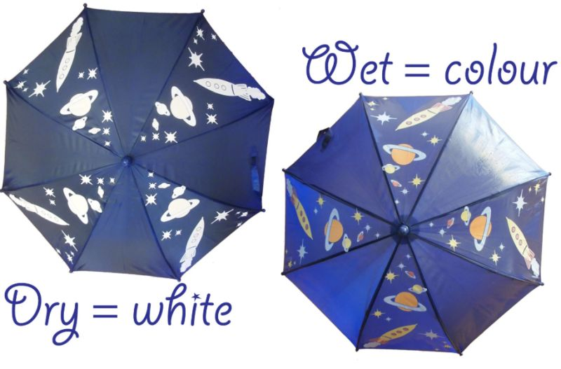 Hydrochromatic umbrella
