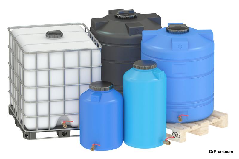 Outdoor water tanks