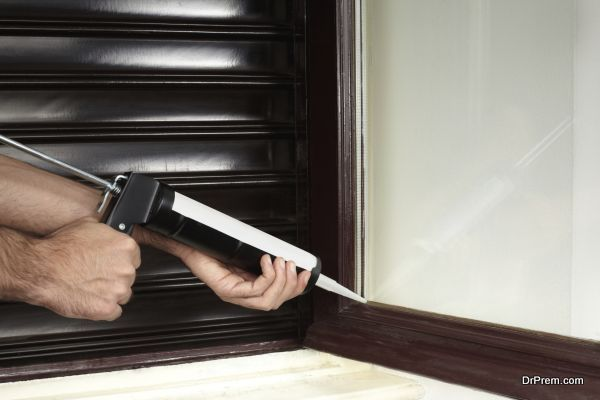 Caulk around doors and windows