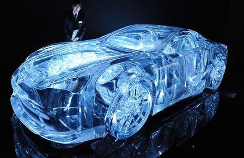 Lexus transparent car