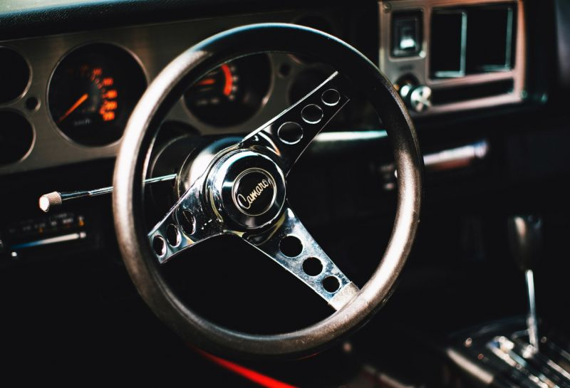 A one-of-a-kind steering wheel