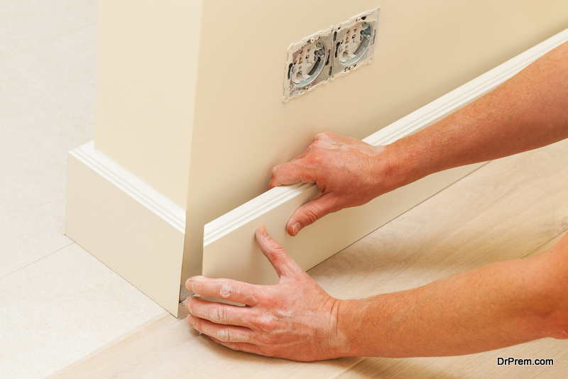 MDF Skirting Board installation