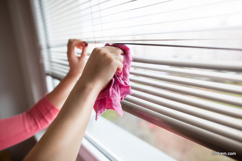 safest way to clean the moulds off the vertical blinds